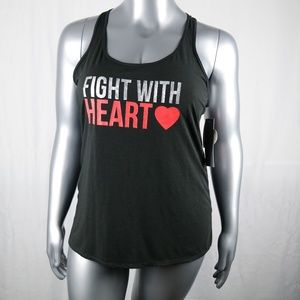 Ideology Racer Back Fight With Love Tank Top XL
